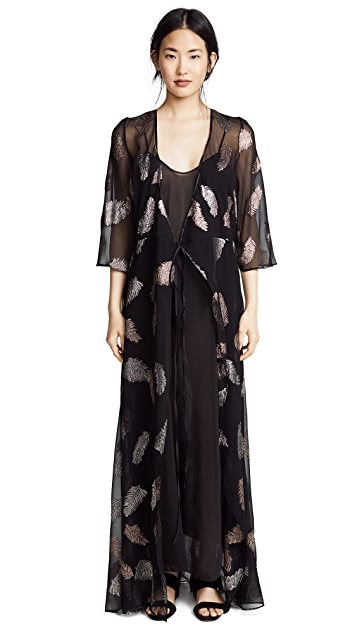 Forte Forte Fil Coupe Desert Leaf Print Dress