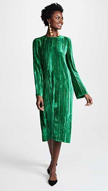Forte Forte Pleated Velvet Dress