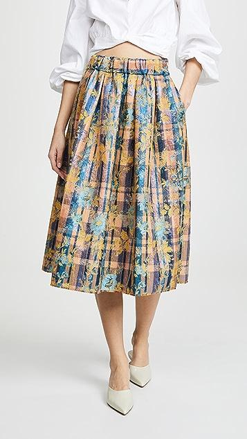 Forte Forte Sea Roses Jacquard Skirt