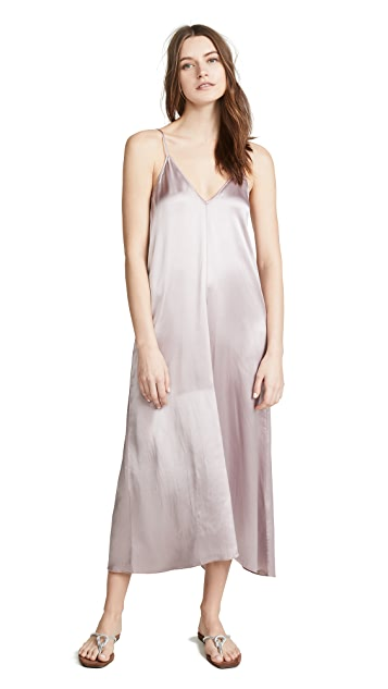 Forte Forte Shaded Satin Dress with Knot