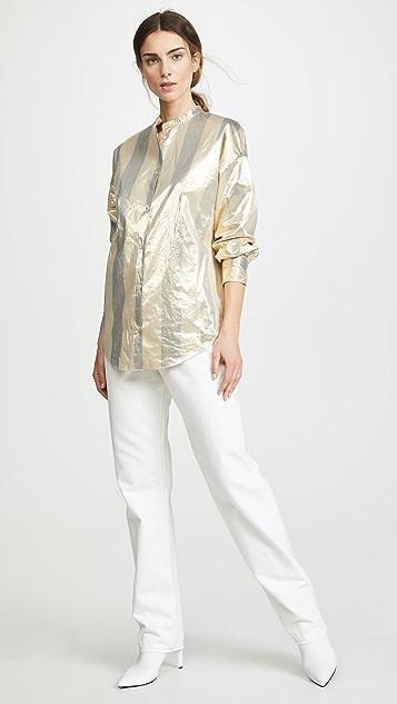 Forte Forte Metallic Chic Stripe Shirt