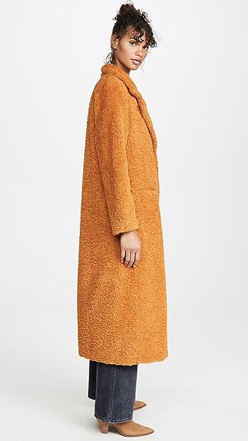 Forte Forte Пальто из искусственного меха с отделкой из короткой шерсти