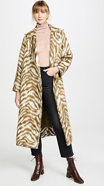 Forte Forte Faux Fur Corteccia Jacquard Coat