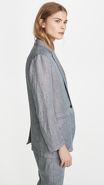 Forte Forte Linen Metallic Diagonal Jacket