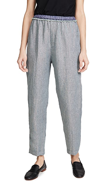 Forte Forte Linen Metallic Diagonal Jogging Pants