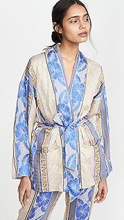 Forte Forte Saint Barth 提花织物系腰带夹克