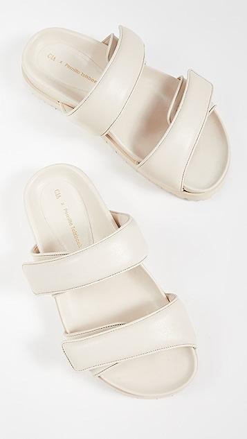 Gia Borghini x Pernille Teisbaek 厚底凉鞋