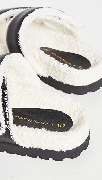 Gia Borghini x Pernille Teisbaek Double Strap Sandals