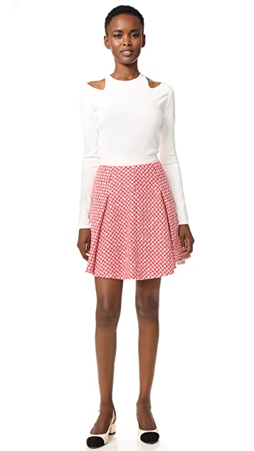 Giambattista Valli Tweed Miniskirt
