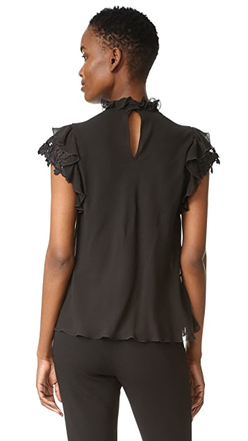 Giambattista Valli Ruffle Neck Top
