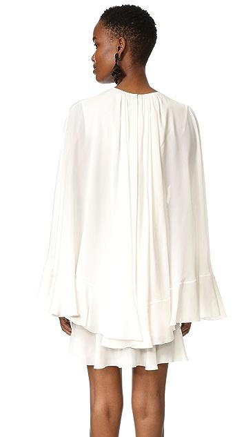 Giambattista Valli Cape Back Dress