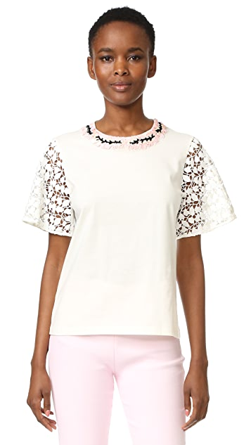 Giambattista Valli Short Sleeve Top