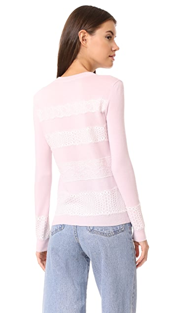 Giambattista Valli Lace Trimmed Sweater