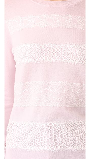 Giambattista Valli Lace Trimmed Sweater
