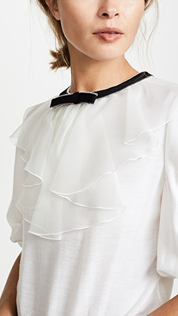 Giambattista Valli Cropped Knit Sweater