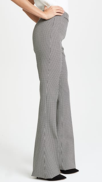 Giambattista Valli Houndstooth Flare Trousers