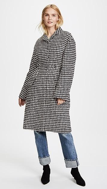 Giambattista Valli Long Houndstooth Coat