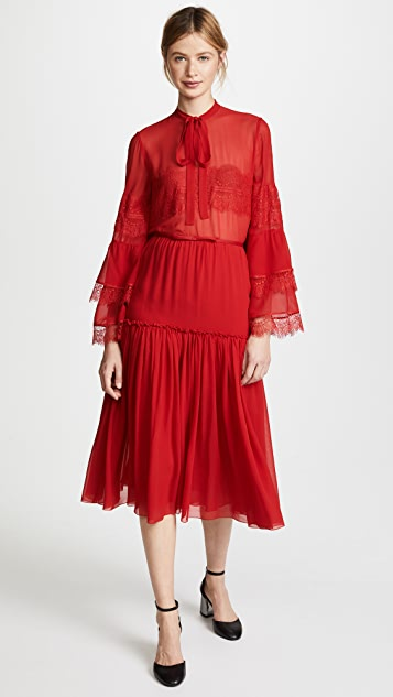Giambattista Valli Tiered Midi Skirt