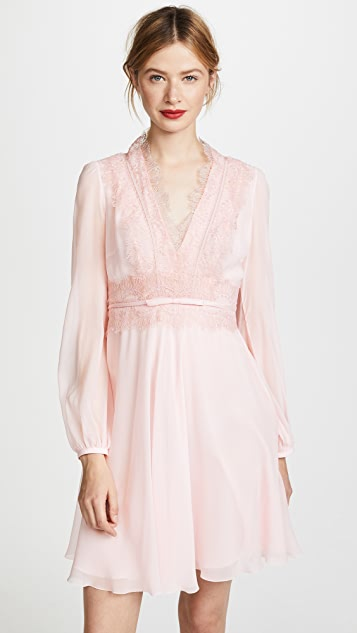 Giambattista Valli Lace Trim Mini Dress