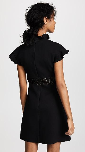 Giambattista Valli Mock Neck Lace Dress