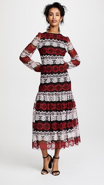 Giambattista Valli Lace Mesh Overlay Dress