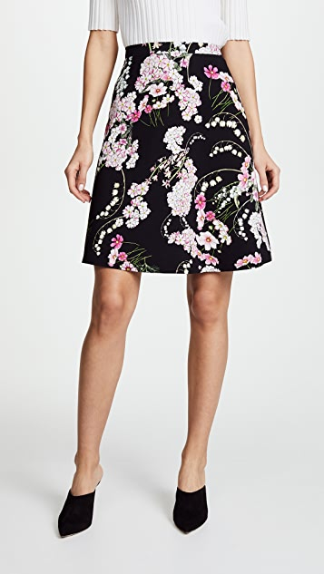 Giambattista Valli Floral Midi Skirt