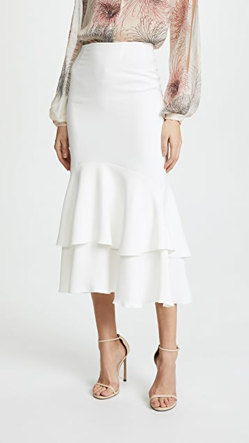 Giambattista Valli Tiered Skirt