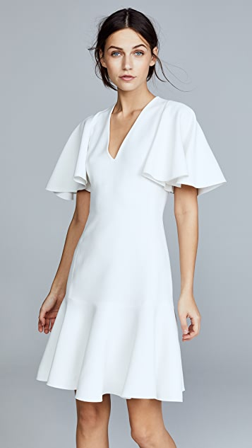 Giambattista Valli V Neck Short Sleeve Dress