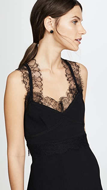 Giambattista Valli Lace Trim Dress
