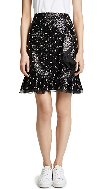 Giambattista Valli Polkadot Sequin Skirt