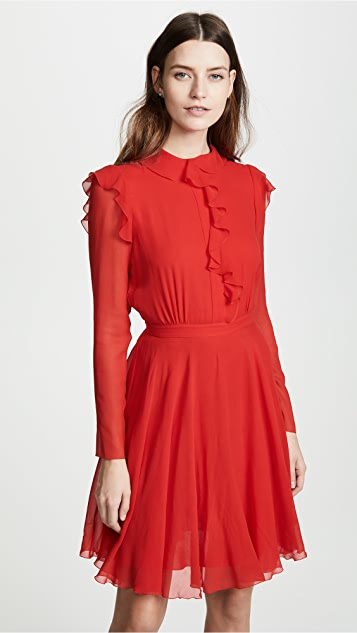 Giambattista Valli Ruffle Neck Dress