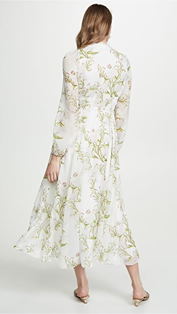 Giambattista Valli Floral V Neck Dress