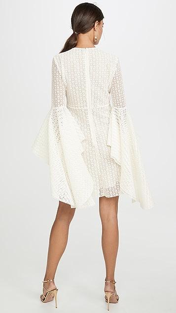Giambattista Valli Платье с драпированными рукавами