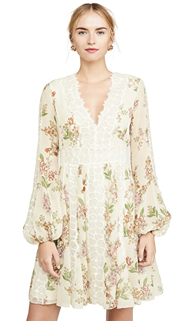 Giambattista Valli V Neck Floral Detail Dress