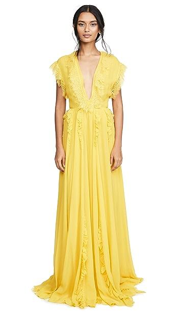 Giambattista Valli Вечернее платье с V-образным вырезом