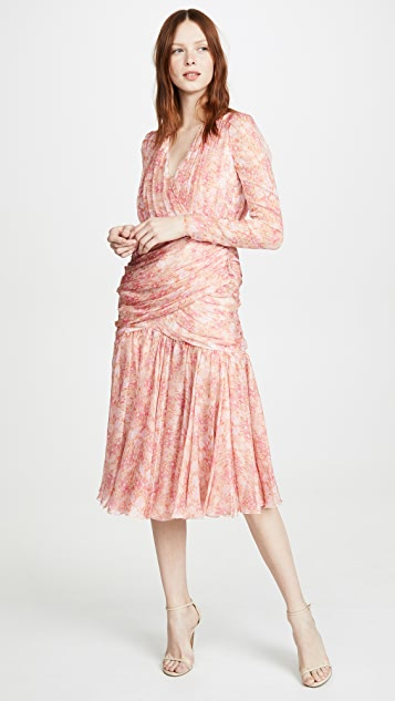 Giambattista Valli Midi Silk Dress