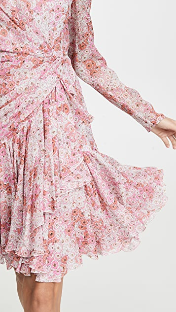 Giambattista Valli Long Sleeve Floral Mini Dress