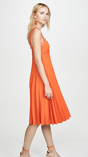 Giambattista Valli Pleated Midi Dress