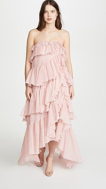 Giambattista Valli Strapless Tiered Gown