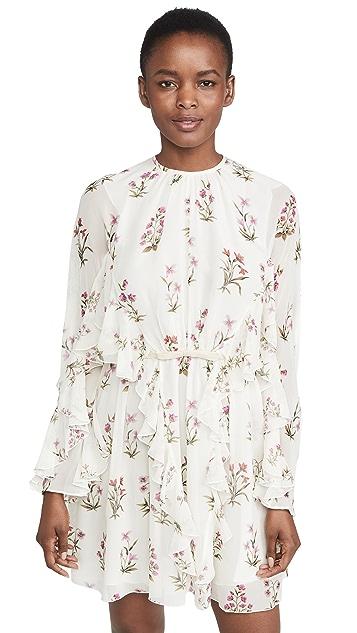 Giambattista Valli High Neck Long Sleeve Mini Dress