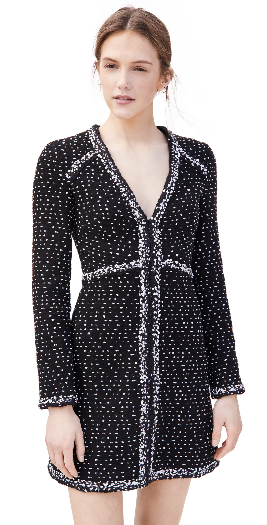 Giambattista Valli V Neck Mini Dress