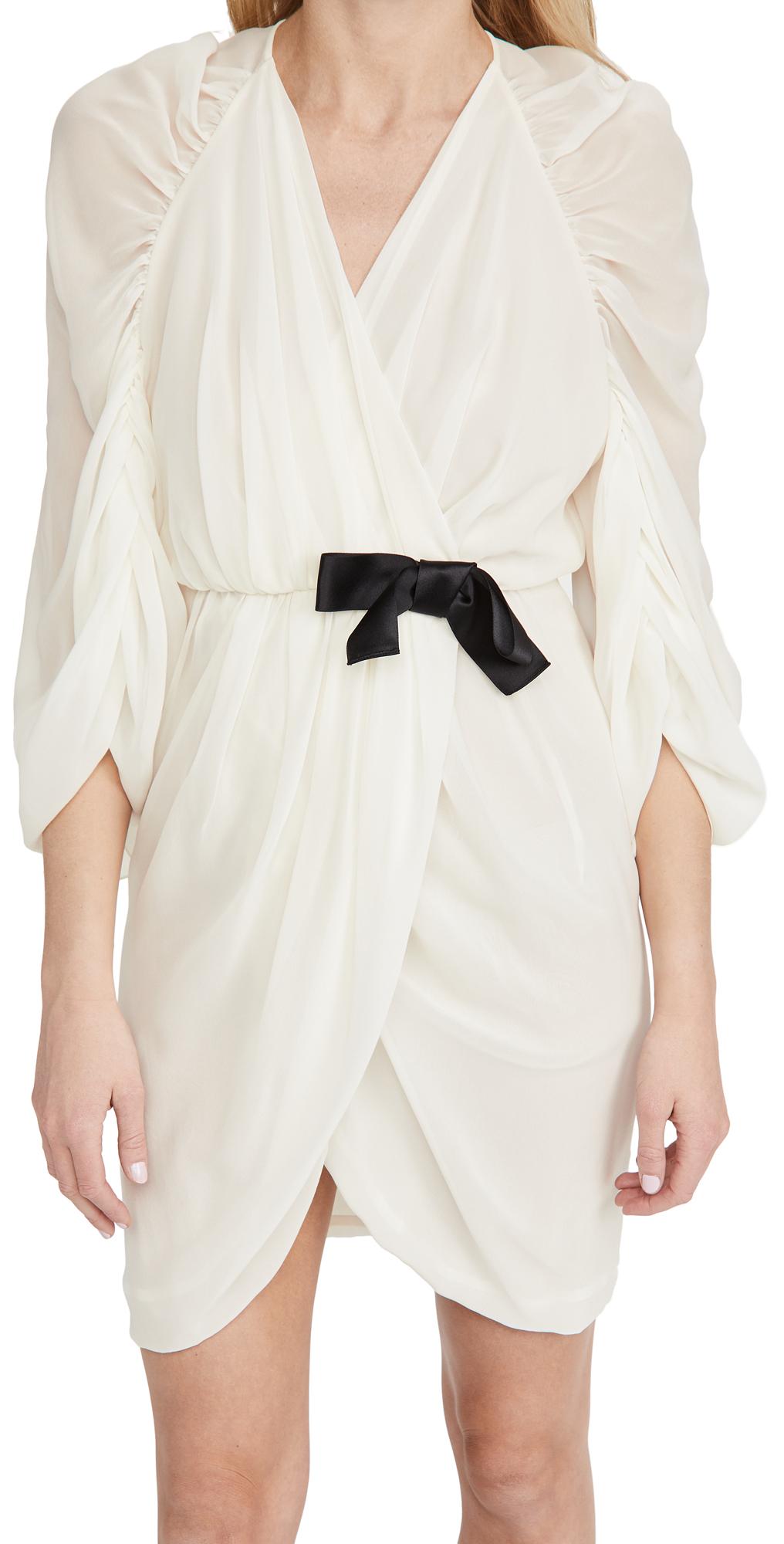 Giambattista Valli Long Sleeve Mini Dress W/ Bow