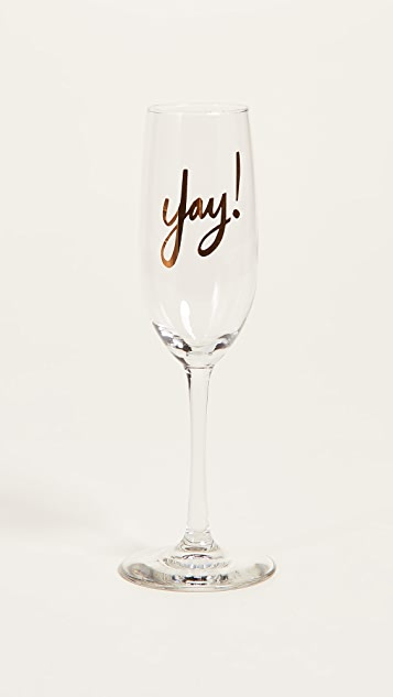 Gift Boutique Yay! Flute Glass