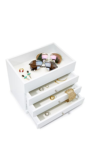 Gift Boutique 4 Level Open Top Jewelry Box