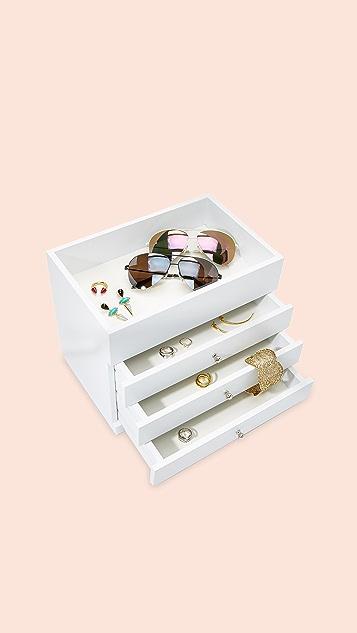 Gift Boutique Шкатулка для украшений с открытым верхом и четырьмя ярусами