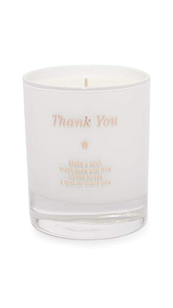 Gift Boutique Make a Wish to Say Thank You Candle