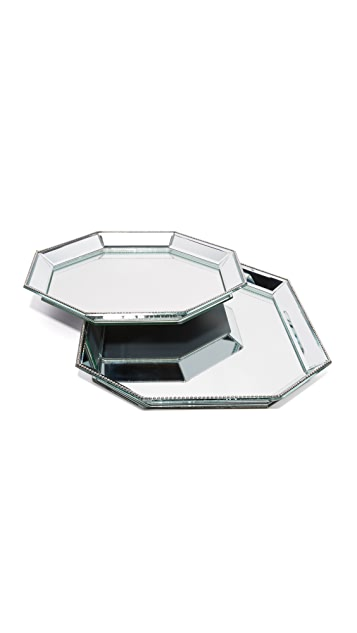 Gift Boutique Paris Mirrored Tray Set