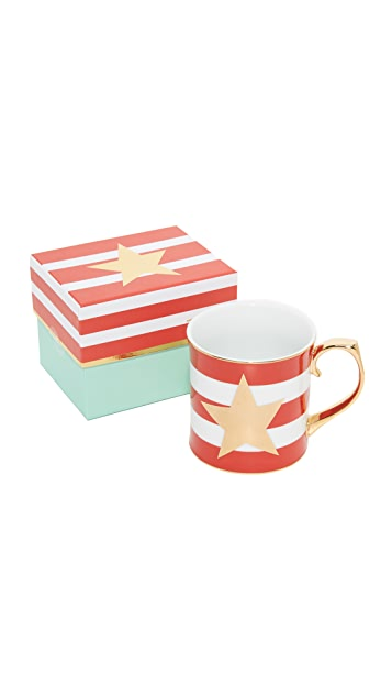 Gift Boutique Striped Star Mug