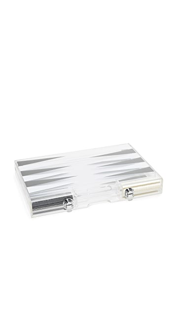 Gift Boutique Lucite Backgammon Set