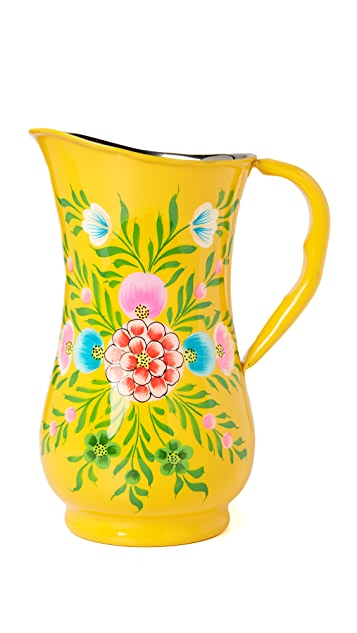 Gift Boutique Millifiori Jug - Yellow